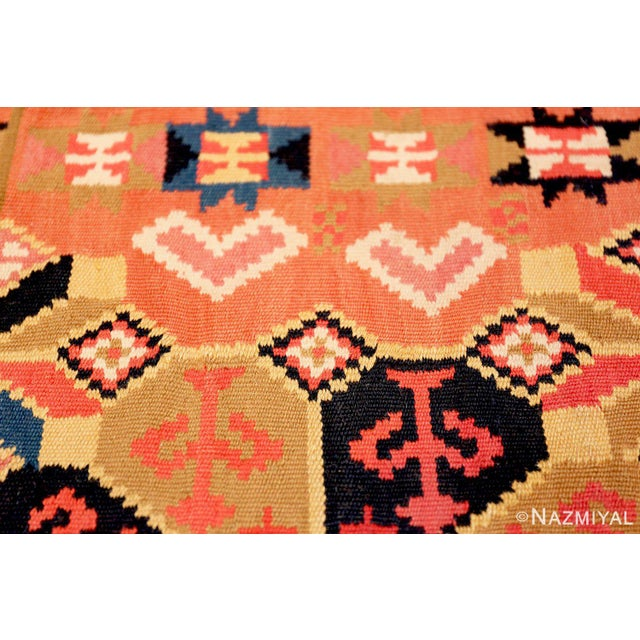 Small Vintage Swedish Kilim Scatter Rug - 1′11″ × 3′6″ For Sale In New York - Image 6 of 8