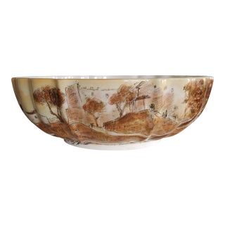 1950s Mid-Century Michele Cascella Italian Ceramic Serving Bowl For Sale