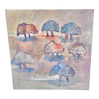 1980s Robert N Hall Abstract Landscape Painting For Sale