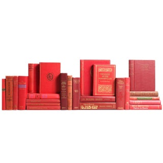 Red Classics Bookshelf - Set of 23