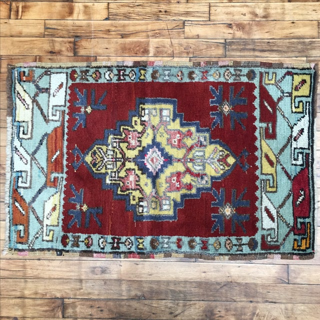Vega Small Turkish Tribal Rug - 2′1″ × 3′2″ - Image 2 of 7