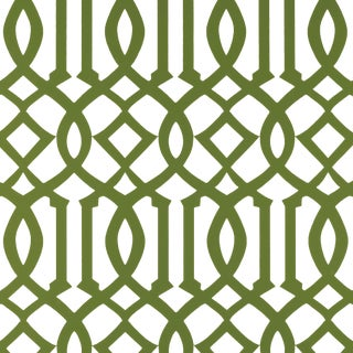 Schumacher Imperial Trellis Wallpaper in Treillage For Sale