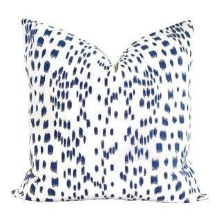"20"" x 20"" Brunschwig Fils Les Touches Blue & White Decorative Pillow Cover For Sale"