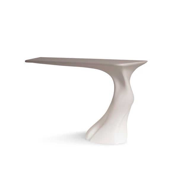 Contemporary Amorph Frolic Console White Matte Wall Mounted For Sale - Image 3 of 7