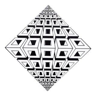 "1970s Roy Ahlgren, ""Untitled Diamond"", Op Art Screenprint For Sale"