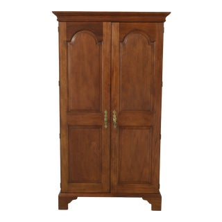 Stickley 2 Door Raised Panel Mahogany Armoire W. Fitted Interior For Sale