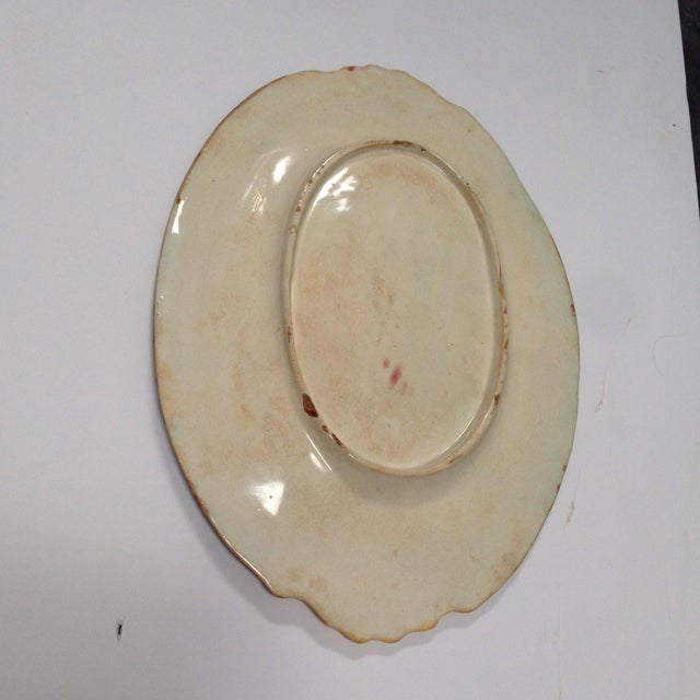 Antique Colorful Majolica Platter For Sale - Image 4 of 5