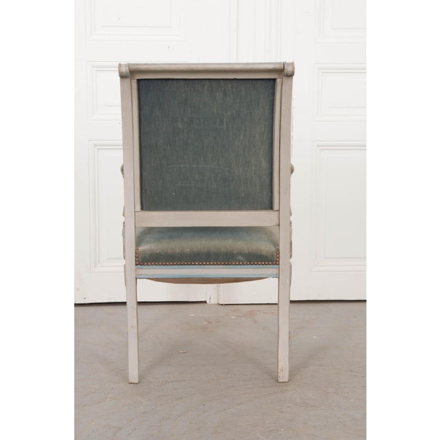 French 19th Century Second Empire Painted Fauteuil For Sale - Image 12 of 13