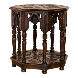 19th Century English Gothic Side Table For Sale