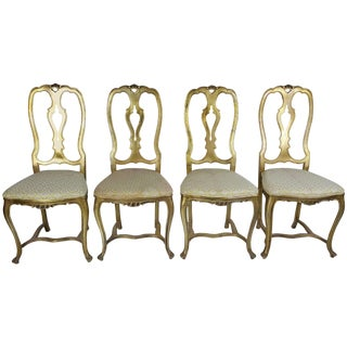 Rococo Style Gilt Aluminium Chairs 1960s - Set of 4 For Sale