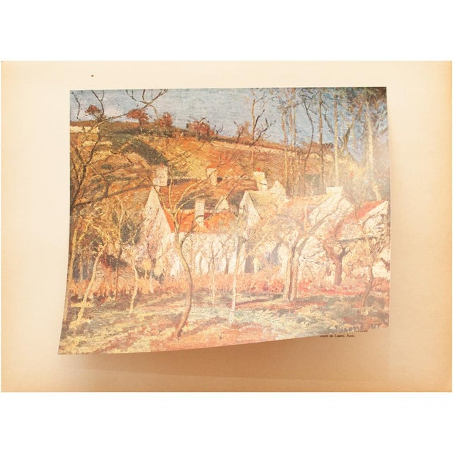 "1930s 1930s Camille Pissarro, Rare Original ""The Red Roofs in Pontoise"" Lithograph For Sale - Image 5 of 9"
