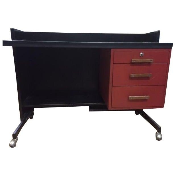 Designcraft 3 Drawer Industrial Desk - Image 1 of 6