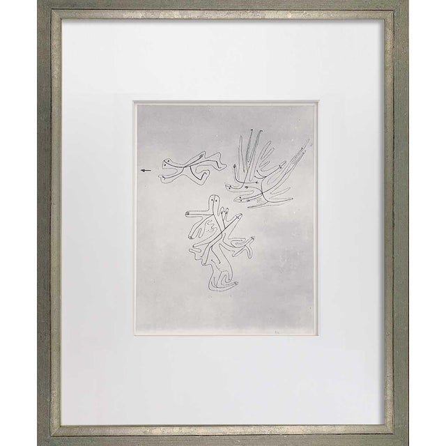 "1940s Paul Klee Lithograph Ltd Edition ""Spirits of the Air"" For Sale - Image 5 of 5"