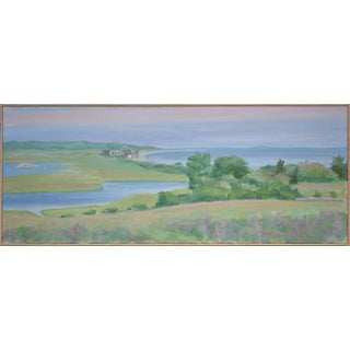"""Wildlife Sanctuary by the Atlantic"" Landscape Painting by Stephen Remick For Sale"