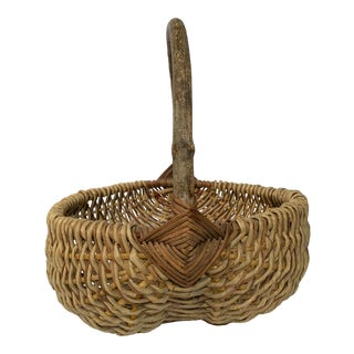 Vintage Buttocks Gathering Basket For Sale