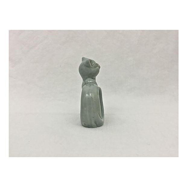 Ironstone Celadon Cats Napkin Rings - Set of 4 - Image 8 of 9