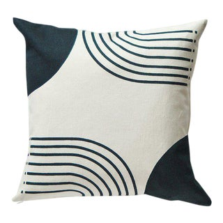 Contemporary Koons Retro Arch Lines Pillow Cover For Sale