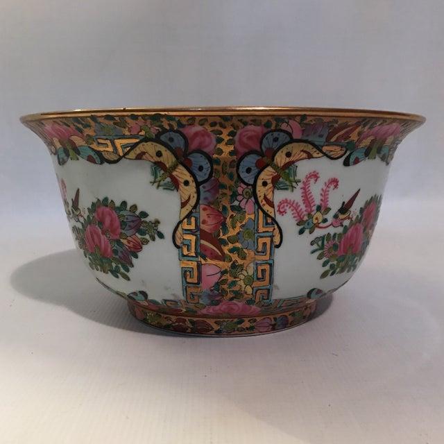 Rose Medallion Bowl For Sale - Image 10 of 11