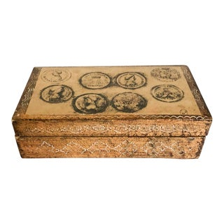 Gold Italian Florentine Box With Coins For Sale