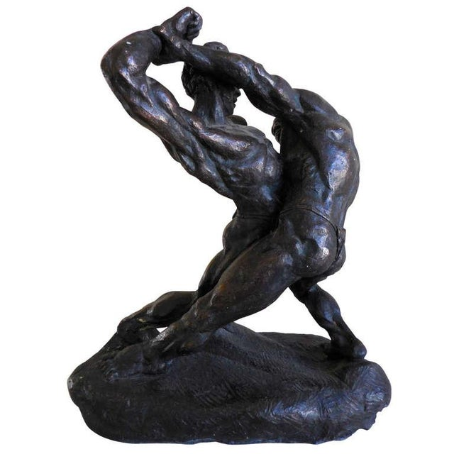 Wrestlers Sculpture by Thomas Holland - Image 1 of 2
