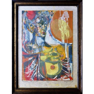 "1964 ""Prophetess"" Serigraph by Douglas Grant For Sale"