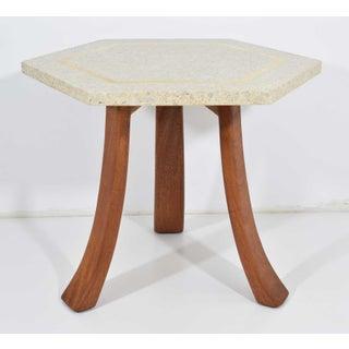 Harvey Probber Hexagonal Terrazzo Side Table Preview