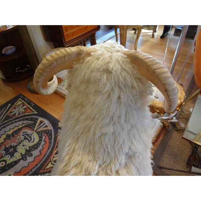 1960s Claude Lalanne Inspired Figurative Shearling Sheep Sculpture / Bench For Sale - Image 10 of 12