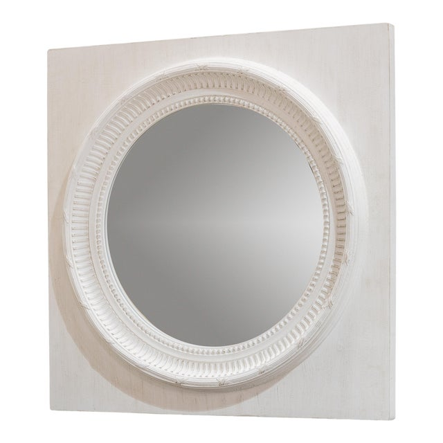 Circle Squared Mirror, Off White For Sale