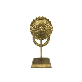 Early 21st Century Solid Brass Free Standing Towel Holder For Sale