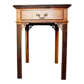 Reproduction Chippendale Tiger Maple Side Table