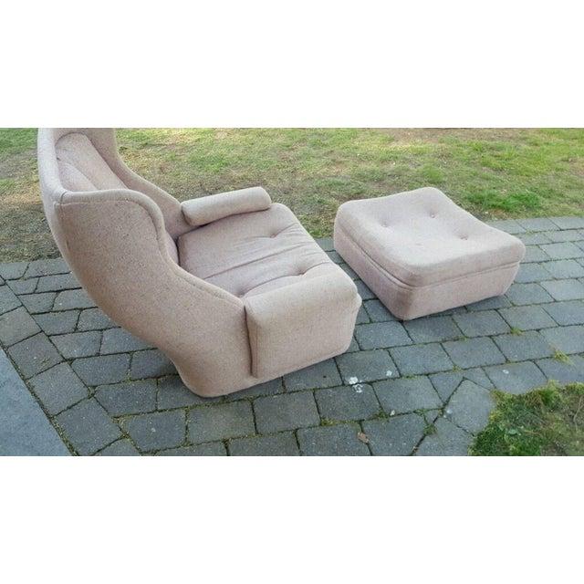 W & J Sloane Mid-Century Chair & Ottoman - Image 3 of 5