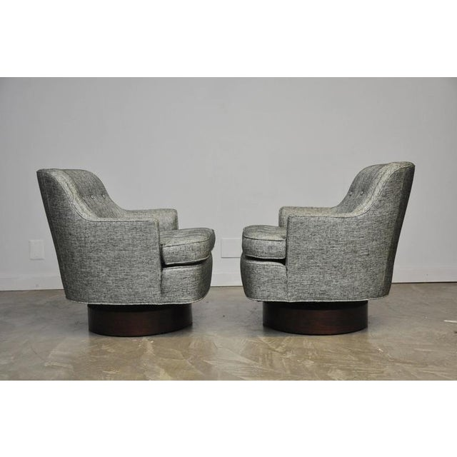 Dunbar Swivel Chairs by Edward Wormley - Image 3 of 6