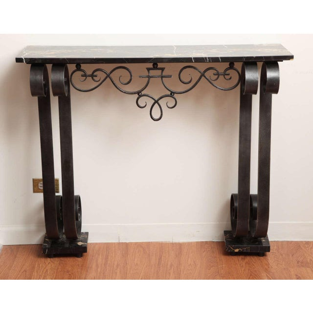 Art Deco Wrought Iron Console For Sale - Image 10 of 10