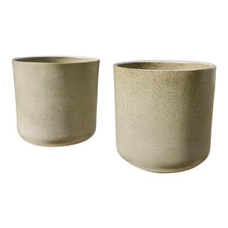 David Cressey Malcolm Leland Architectural Pottery Planter Pair For Sale