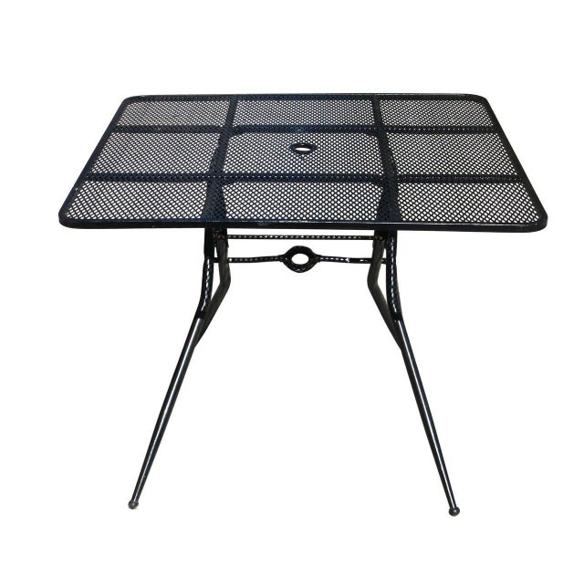 Black Salterini Mid-Century Modern Steel Outdoor or Patio Dining Set with Four Chairs For Sale - Image 8 of 8