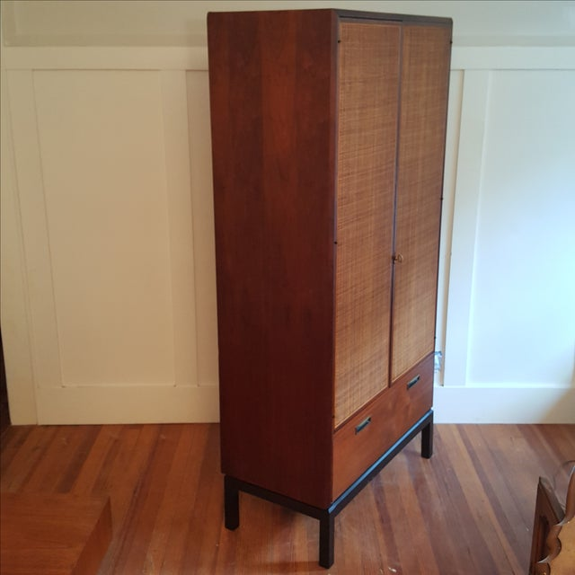 Mid-Century Knoll Attributed Caned Cabinet - Image 6 of 6