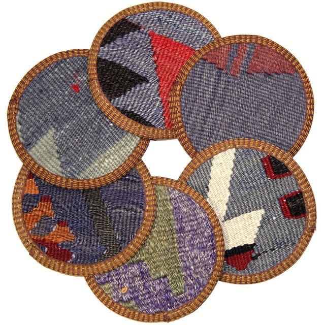 Kilim Afyon Coasters - Set of 6 - Image 1 of 2