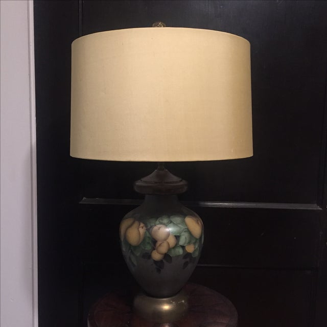 Vintage Hand-Painted Pear Lamp - Image 2 of 4