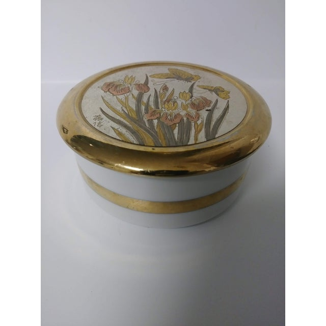 1960s 1960s Japanese Chokin Gold Trinket Box For Sale - Image 5 of 7