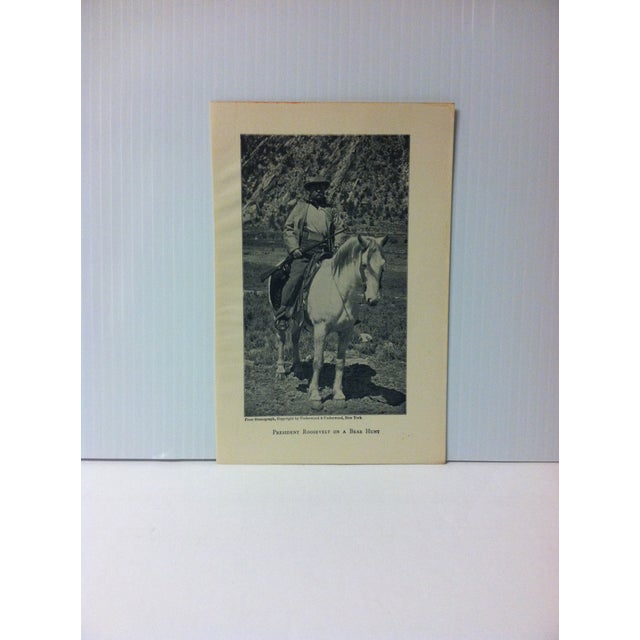 """1919 """"President Roosevelt on a Bear Hunt"""" Theodore Roosevelt Print on Paper For Sale - Image 4 of 4"""