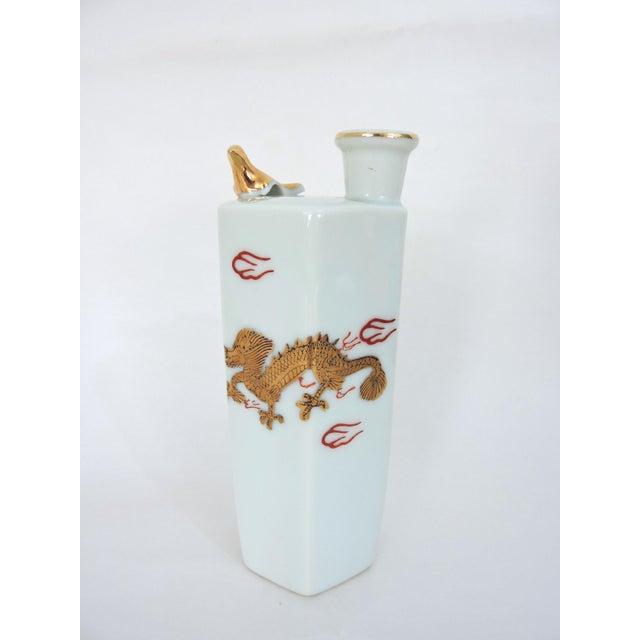 Japanese Gold Dragon 'Whistling' Porcelain Sake Flask/Decanter For Sale - Image 9 of 9