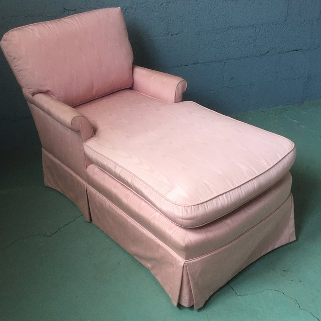 Vintage Pink Chaise Lounge - Image 4 of 11
