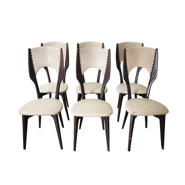 Vintage Italian Dining Chair by Designer Gio Ponti, Sold as a Set For Sale - Image 9 of 9
