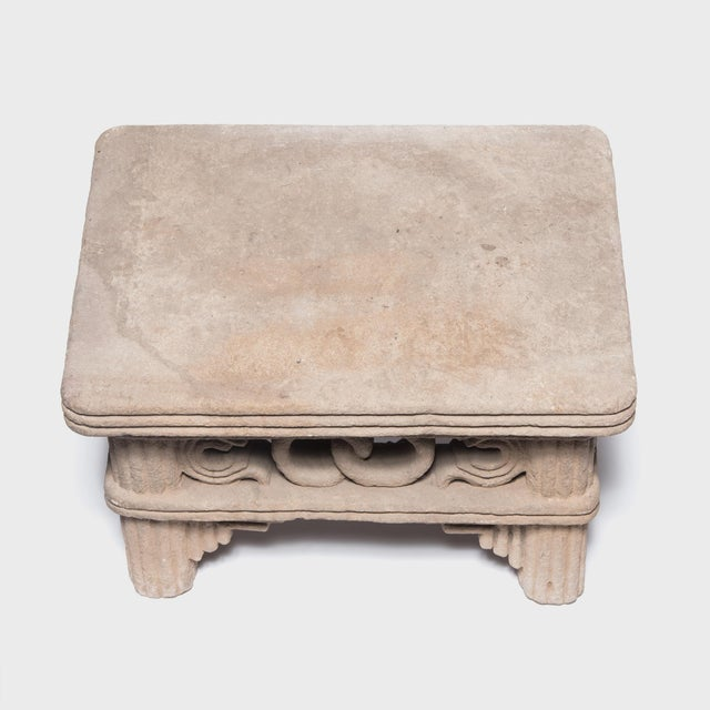 17th Century Chinese Ming Interlocking Ring Stone Table For Sale - Image 5 of 8
