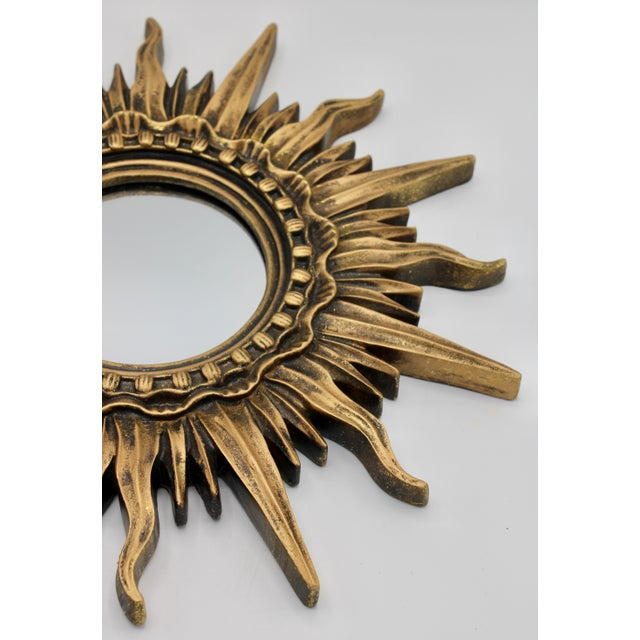 Gold Antique French Sunburst Mirror For Sale - Image 8 of 13