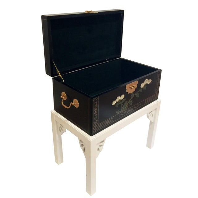 1970s 1970s Chinoiserie Lacquered Chest For Sale - Image 5 of 11