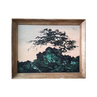Mid-Century Painting of Tree