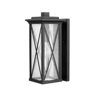 Morris 1 Light Outdoor Aluminum Wall Sconce, Black For Sale