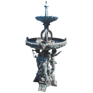 Impressive Bronze Cherub Fountain For Sale