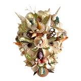Image of Commedia Del Arté 'Pedrolino' Shell Mask For Sale
